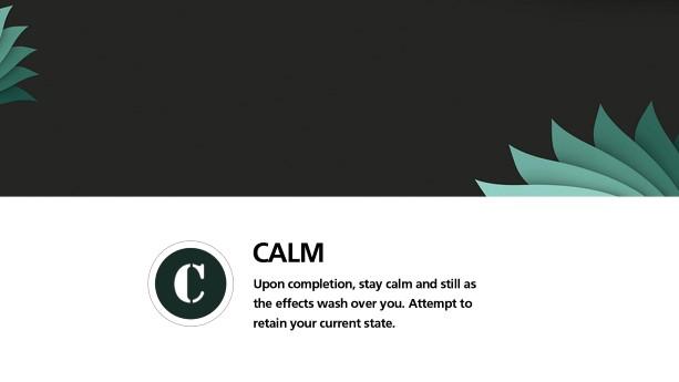 Step 9: Calm