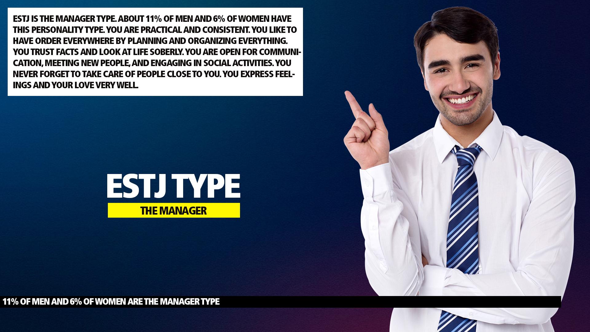 MBTI ESTJ Manager Type