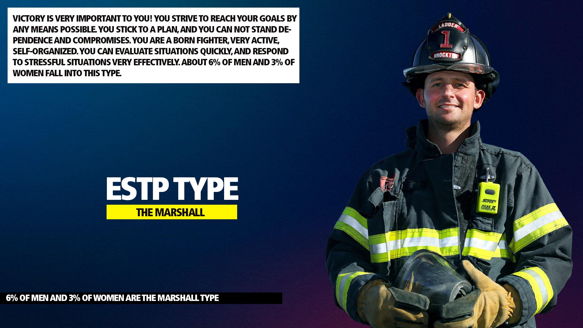 MBTI ESTP Marshall Type