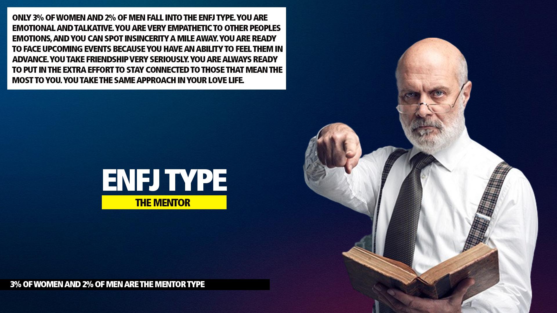 MBTI ENFJ Mentor Type