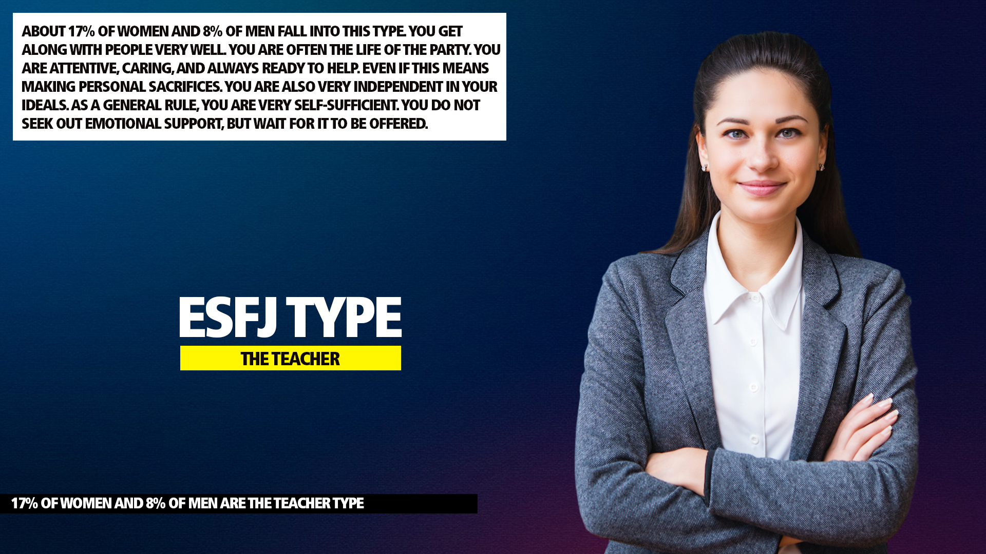 MBTI ESFJ Teacher Type