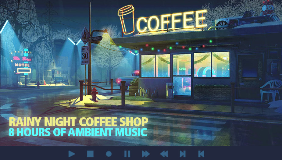 Rainy Night Coffee Shop